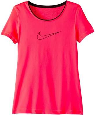 Nike Pro Short Sleeve Top Girl's Clothing