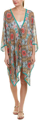 Red Carter Chiffon Caftan