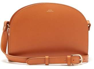A.P.C. Half Moon Leather Cross Body Bag - Womens - Camel