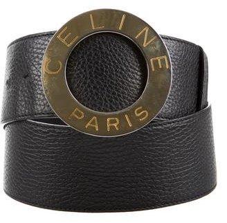 CelineCéline Embellished Leather Waist Belt