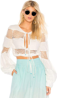 Co A Mere Gustavia Lace Stripes Top