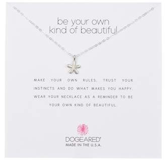 Dogeared Sterling Silver 'Be Your Own Kind of Beautiful' Groovy Flower Pendant Necklace