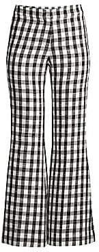 Derek Lam Women's Plaid Flare-Leg Trousers