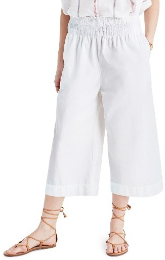 Women's Madewell Smocked High Waist Culottes