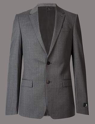 Marks and Spencer Grey Slim Fit Italian Wool Jacket