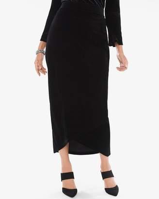 Travelers Collection Velvet Tulip-Hem Maxi Skirt