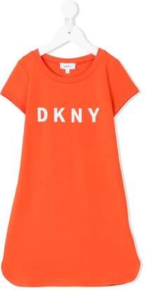 DKNY logo print dress