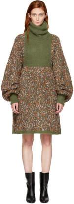 Chloé Multicolor Chunky Turtleneck Dress