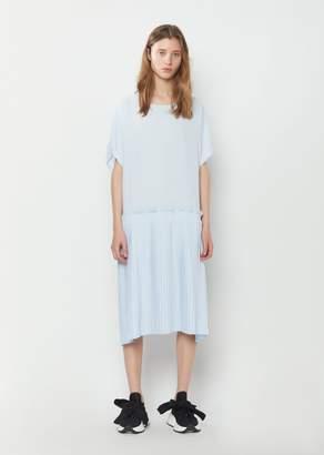 MM6 MAISON MARGIELA Fluid Pleated Dress Powder Blue