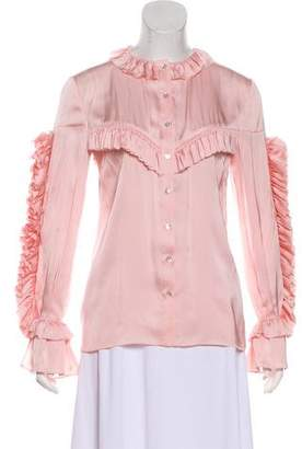 Magda Butrym Ruffled Button-Up Top