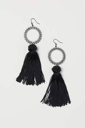 H&M Tasseled Earrings - Black