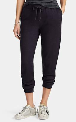 Barneys New York Women's Cotton-Cashmere Drawstring Pants - Navy