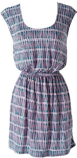 Printed Cross-Back Dress