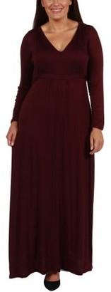 24/7 Comfort Apparel Long Cool Woman Plus Size Maxi Dress