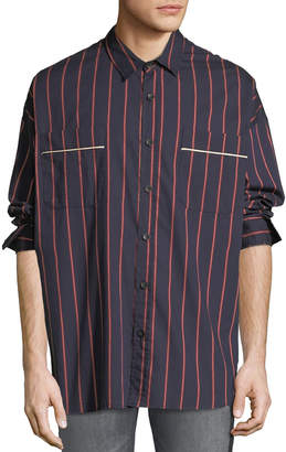 Fear Of God Men's Oversized Striped Button-Front Shirt
