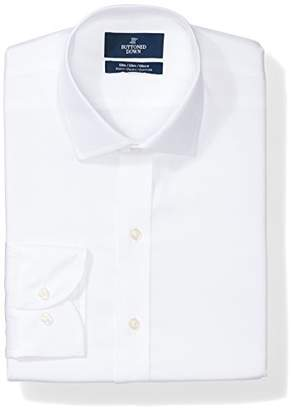 Buttoned Down Men's Slim Fit Stretch Poplin Non-Iron Dress Shirt