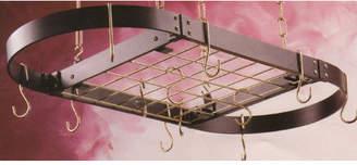 Rogar Gourmet Oval Designer Hanging Pot Rack with Grid