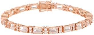 Morganite and Diamond 6-3/4 Tennis Bracelet, 8.15 cttw, 14K