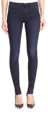 7 For All Mankind b(air) High-Waist Skinny Jeans $179 thestylecure.com