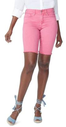 NYDJ Briella Frayed Hem Bermuda Shorts