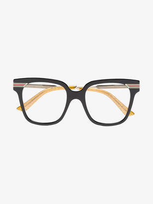Gucci black web detail optical glasses