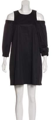Tibi Cold-Shoulder Mini Dress