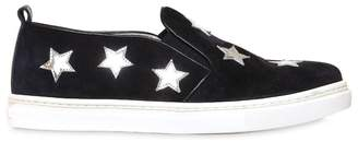 Il Gufo Suede Slip-On Sneakers W/ Star Patches