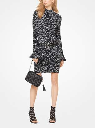 MICHAEL Michael Kors Leopard Jacquard Knit Dress