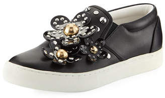Marc Jacobs Daisy Studded Leather Slip-On Sneakers
