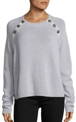 The Kooples Button Detailed Cashmere Sweater $395 thestylecure.com