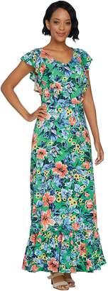 C. Wonder Regular Tropical Floral Print Knit Maxi Dress