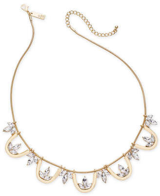 """INC International Concepts I.N.C. Gold-Tone Crystal Collar Necklace, 18"""" + 3"""" extender, Created for Macy's"""