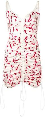 Aalto printed ruched mini dress