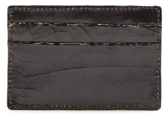 Marc Marmel Logo Debossed Cracked Leather Cardholder - Mens - Black
