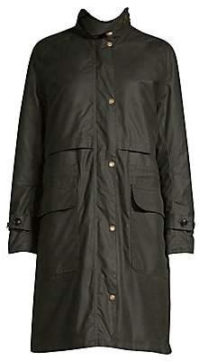 Barbour Women's Faux Fur Trimmed Floree Waxed Coat