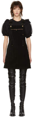 McQ Black Major Dungaree Dress