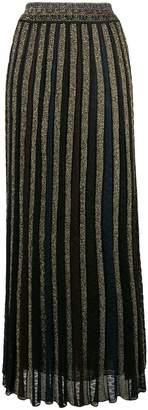 Missoni lurex pleated skirt