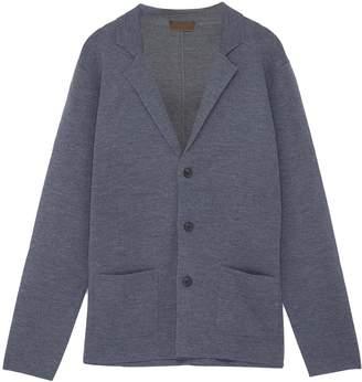 Altea Notched lapel virgin wool cardigan