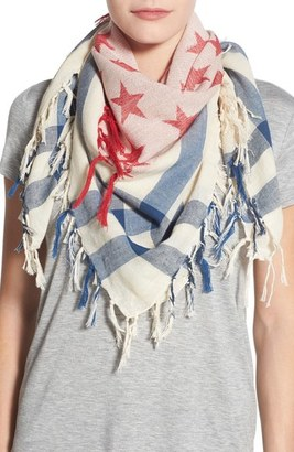 Collection XIIX 'Stars & Stripes' Square Scarf $32 thestylecure.com