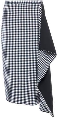 Tibi Gingham Asymmetrical Skirt
