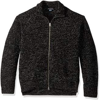 French Connection Men's Twisted Rib Zip Up Sweater