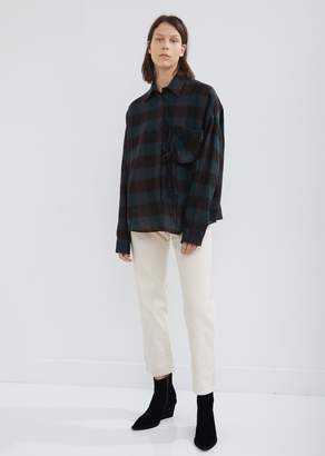 MM6 MAISON MARGIELA Check Shirt with Removable Chest Pocket