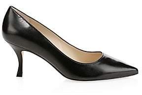 Stuart Weitzman Women's Tippi Leather Stiletto Pumps