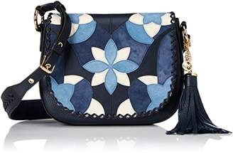 Michael Kors Medium Saddlebag, Women's Shoulder Bag, Blau (Admiral), 8x29x22 cm (B x H T)