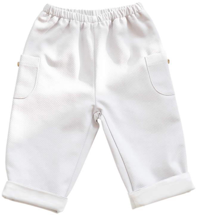 Baby Boy Alfred - Pique trouser - Light Grey