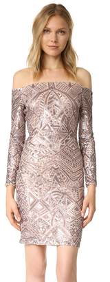 BCBGMAXAZRIA Embellished Off Shoulder Dress $398 thestylecure.com