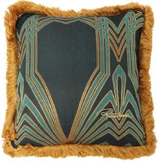 Roberto Cavalli Deco Jacquard Accent Pillow