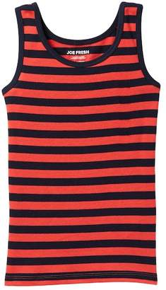 Joe Fresh Ribbed Striped Tank (Little Girls & Big Girls)