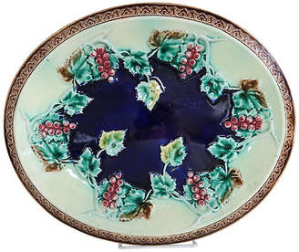 One Kings Lane Vintage English Majolica Grapevine Dish