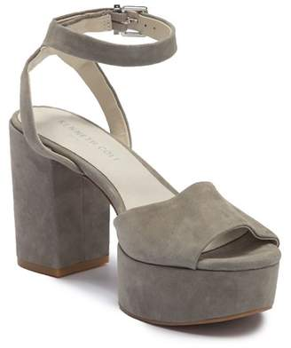 Kenneth Cole New York Pheonix Suede Block Heel Sandal